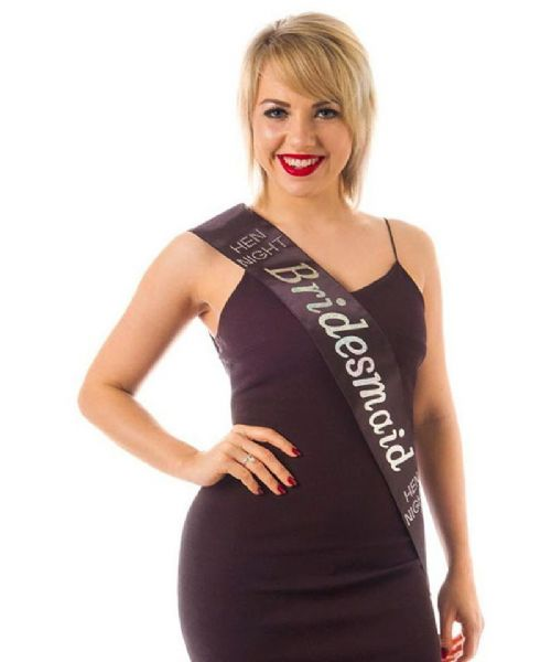 Black Diamante Bridesmaid Sash